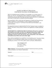 VTC form HIPPA consent